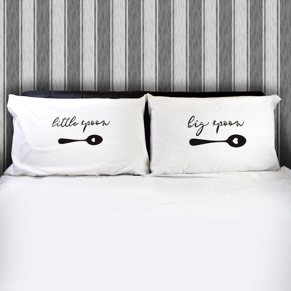 Couple Pillowcases Big Spoon Little